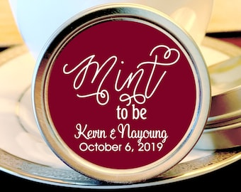 Fall Wedding Favors - Mint To Be Favors - Mint to Be Wedding Mints - Personalized Wedding Tin Mints - Mint Tins - Wedding Candy Containers