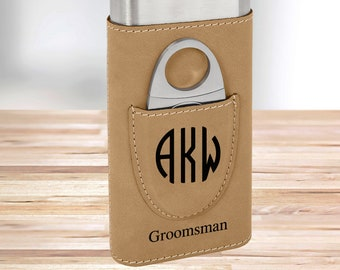 Personalized Monogram Cigar Holder | Tan Cigar Holder | Gifts for Dad | Gifts for Him | Groomsmen Gifts | Boyfriend Gifts | Christmas Gift