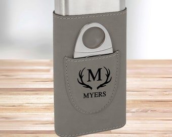 Personalized Monogram Cigar Holder | Gray Cigar Holder | Gifts for Dad | Gifts for Him | Groomsmen Gifts | Boyfriend Gifts | Christmas Gift