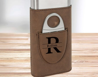 Personalized Monogram Cigar Holder | Dark Brown | Gifts for Dad | Gifts for Him | Groomsmen Gifts | Boyfriend Gifts | Christmas Gift
