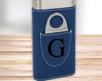 Personalized Monogram Cigar Holder   Blue Cigar Holder   Gifts for Dad   Gifts for Him   Groomsmen Gifts   Boyfriend Gifts   Christmas Gift