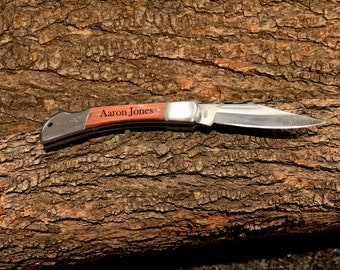 Personalized Rosewood Gentleman's Knife, Best Man Gift, Gift for Men, Fathers Day, Gift for Dad, Groomsmen Gift, Personalized Christmas Gift