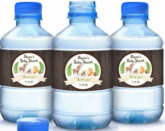 30 Rustic Woodlands Baby Shower Water Bottle Labels - Woodlands Baby Animals Water Bottle Labels - Baby Shower Labels - Shower Bottle Labels