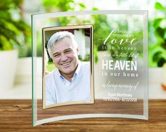 "Sympathy Frame, Memorial Frame, Loss Frame, Memorial Gift, Bereavement Gift, Personalized In Loving Memory 5"" x 7"" Glass Photo Frame"