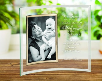 "Sympathy Frame, Memorial Frame, Loss Frame, Memorial Gift, Bereavement Gift, Personalized In Loving Memory 5"" x 7"" Glass Photo Frame"