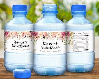 Water Bottle Labels, Personalized Water Bottle Labels, Wedding Labels, Wedding Welcome Bags, Pink Floral, Wedding Favor