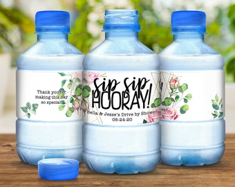 Drive By Bridal Shower Water Bottle Labels Drive Through Shower Water Bottle Labels Drive Through Shower Quarantine Bridal Shower Ideas