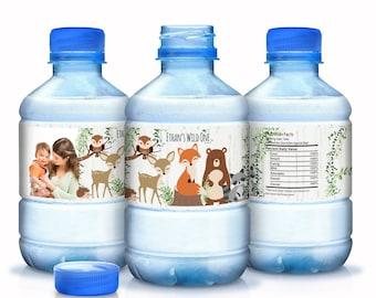 30 Woodlands Baby Shower Water Bottle Labels - Woodlands Baby Animals Water Bottle Labels - Baby Shower Labels - Shower Bottle Labels