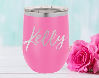 Polar Camel 12 oz. Tumbler with Lid | Personalized Wine Tumbler | Bridesmaid Gift | Christmas Gift | Best Friends Gift | Travel Mug