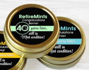 Retirement Mint Tins - Still in Mint Condition | Retire Mints | Retirement Party Favors | Retirement Party Decor | 60 Gold Retirement Favors