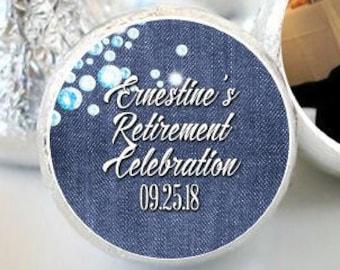 108 Retirement Hershey Kiss® Stickers - Retirement Kiss Stickers-  Retirement Kiss Labels - Hershey Kiss Seals - Retirement Candy Stickers