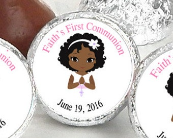 108 First Holy Communion, Kiss Stickers, Girls Holy Communion Stickers, Communion Favors, Party Favors, Candy Kiss Sticker