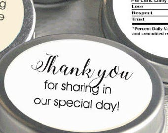"Labels for Backs of Tins - Thank you Labels - Full Color Thank you Stickers - Create Your Own 1.67"" Stickers"