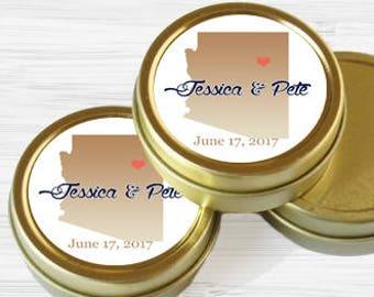Personalized Arizona State Wedding Favor Tins - Gold Wedding Favor Tins - Gold Mint Tins - Wedding Favors - Mint Favors - Mints