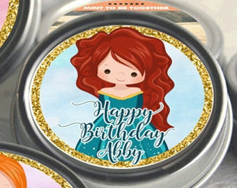 12 Personalized Birthday Party Favors -Birthday Party Mint Tins - Candy Containers - Candy Favors - Girls - Happy Birthday - Little Princess