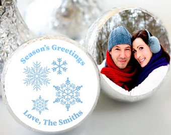 108 Seasons Greetings Hershey Kiss® Stickers - Hershey Kiss Stickers Christmas - Hershey Kiss Labels - Merry Christmas - Wedding Christmas