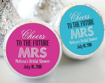 108 Bridal Shower Cheers to the Future Mrs Hershey Kiss Stickers  - Bridal Shower Kiss Labels - Floral Kiss Labels - Bridal Shower Decor