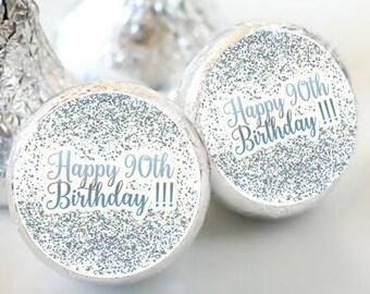 108 Birthday Hershey Kiss® Stickers - Birthday Hershey Kiss Stickers- Purple Birthday Kiss Labels - Hershey Kiss Seals - Milestone Birthday