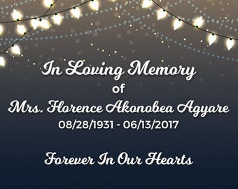 "4"" x 3""  Personalized In Loving Memory Box Labels -  12 In Loving Memory Bag Labels - In Loving Memory Stickers"