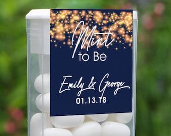 Mint To Be Tic Tac Label, Tic Tac Favors, Wedding, Bridal Shower Favors, Personalized Favor, Tic Tac Wedding Mint Favors, Gold Sparkle
