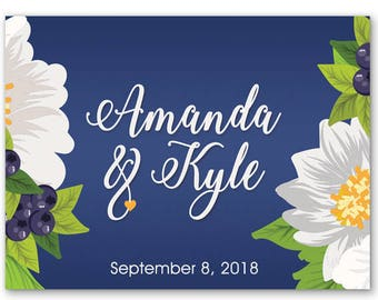 """4"""" x 3""""  Personalized Welcome Box Labels -  30 Wedding Welcome Bag Labels - Favor Labels - Welcome Stickers - Box Stickers - Spring Flowers"""