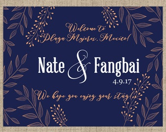 Personalized Welcome Box Labels -  30 Wedding Welcome Bag Labels - Wedding Favor Labels - Welcome Stickers - Box Stickers - Gold