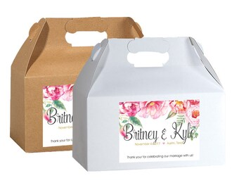Personalized Welcome Box Labels -  Wedding Welcome Bag Labels - Favor Labels - Welcome Stickers - Box Stickers - Peonies