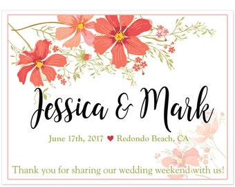 Personalized Welcome Box Labels -  30 Wedding Welcome Bag Labels - Wedding Favor Labels - Welcome Stickers - Box Stickers