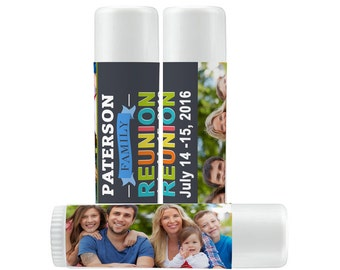 Lip Balm Labels - Personalized Lip Balm Labels - Our Family is the Balm labels - 1 Sheet of 12 Lip Balm Labels - Family Tree Lip Balm Labels