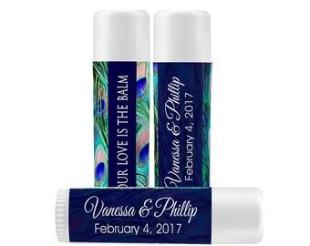Lip Balm Labels - Personalized Lip Balm Labels - Peacock lip balm labels - 1 Sheet of 12 Lip Balm Labels - Custom Lip Balm Labels