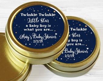 Twinkle Twinkle Little Star Baby Shower Favors | Twinkle Twinkle Little Star Favors | Gold Tins | Baby Shower Favors | Baby Shower Mints