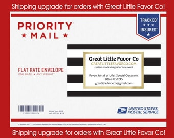 Priority Mail Shipping Upgrade Flat Rate Envelope from Great Little Favor Co