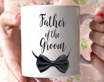 Father of the Groom Coffee Mug Personalized - 15 oz coffee mug - Father Of The Groom Mug, Wedding Mug, Parents Gifts