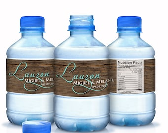 Wedding Water Bottle Labels - Country Wedding Decor - Rustic Wedding - Wedding Decor - Last Name Labels - Welcome Boxes - Thank you favors