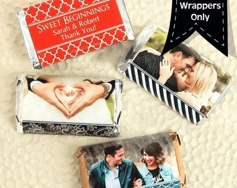 Personalized Photo Hershey's Nuggets Chocolate Wrappers - Photo Nugget Wrappers - Nugget Candy Stickers - Nugget Stickers