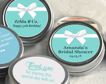 Breakfast at Tiffany's Birthday Favors - Breakfast at Tiffany's Party Decor - Mint Favors - Birthday - Thank you Favors - Bridal Shower