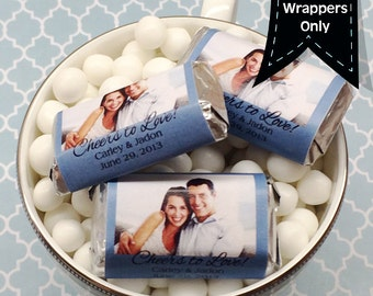 Photo Hershey's Miniatures Chocolate Wrappers - Photo Mini Wrappers - Wedding Decor - Personalized Photo Wedding Favors - Mini Wrappers