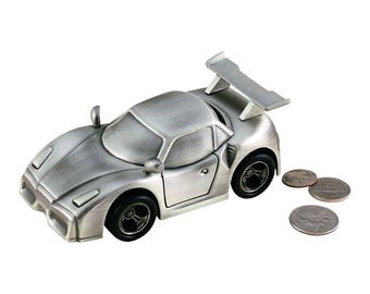 Personalized Sports Car Bank -  Coin Bank - Personalized Car Bank - Coin Bank Gift - Ring Bearer Gift - Personalized Bank - Engraved Bank