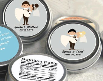 Groom Carrying Bride Wedding Mint Tins  - Mint To Be - Wedding Mints - Wedding Decor - Wedding Supplies - Personalized Wedding Favors