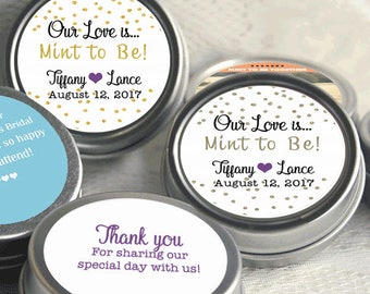 Mint to Be Wedding Favors - Personalized Wedding Mint Tins - Personalized Wedding Favors - Wedding Decor - Mint to Be - Thank You Favors