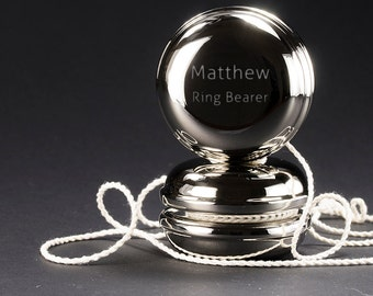 Personalized Yo Yo - Personalized Groomsmen Gift - Personalized Ring Bearer Gift - Silver Plated Yo Yo - Gifts for the Ring Bearer