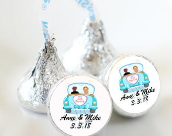 108 Just Married Hershey Kiss® Stickers -  Hershey Kiss Stickers Wedding - Candy Labels - Custom Labels - Wedding Favors - Candy Stickers