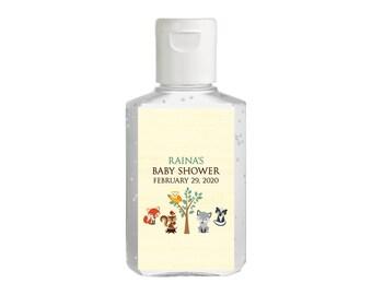 Purell hand sanitizer labels 2 oz. size bottle - Baby Shower Labels - Woodland Animals Baby Shower - Baby Shower Decor - Sanitizer Labels