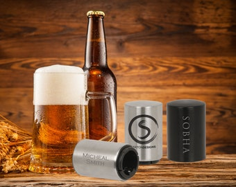 Personalized Stainless Steel Bottle Opener | Monogrammed Bottle Opener | Groomsman Gift | Best Man Gift | Gift for Him | Husband Gift