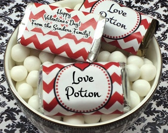 Personalized Love Potion Valentine Hershey's Mini Chocolates- Pack of 100