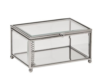 Engravable Glass Jewelry Box, Glass Trinket Box, Personalized Jewelry Box, Glass Jewelry Box, Glass Box, Ladies Christmas Gift