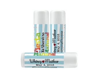 Lip Balm Labels - Personalized Lip Balm Labels - 1 Sheet of 12 Lip Balm Labels - Custom Lip Balm Labels - Fiesta Like There's No Manana