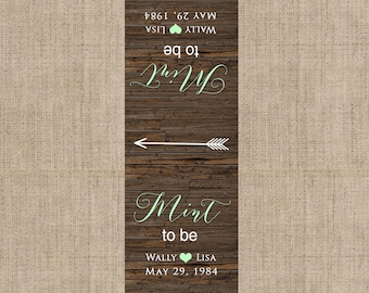 Mint To Be Tic Tac Label, 10 Mint To Be Tic Tac Stickers , Wedding, Bridal Shower Favors, Mint Green, Rustic Wedding Mint Favors