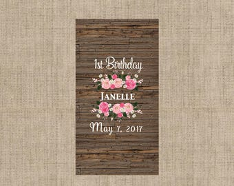 Personalized Birthday Chocolate Wrappers for Girls - Nugget Wrappers - Nugget Candy Stickers - Miniature Candy Wrappers - Candy Stickers