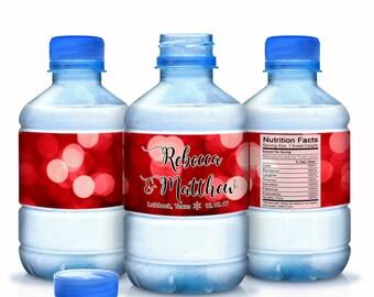 Winter Wedding Water Bottle Labels, 30 Winter Wedding Decorations, Winter Wedding Decor, Winter Wedding Stickers, Christmas Stickers